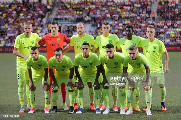 Mandous - Vallo, Vavro, Kralik, Mazan - Kacer, Diaz, Skvarka, Spalek, Otubanjo, Jankauskas during the UEFA European Champions League Second...