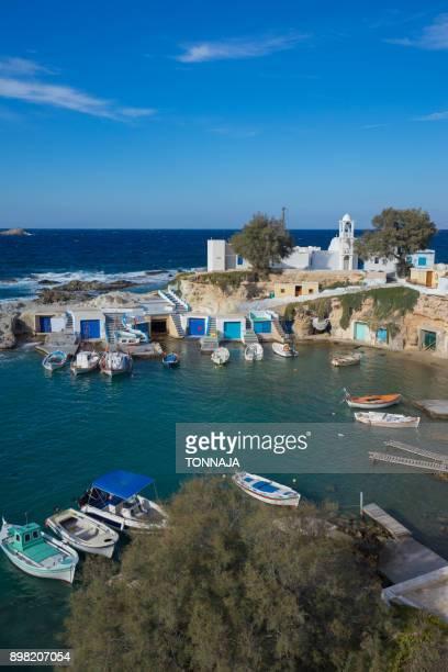 Mandrakia Seaside Settlement, Milos Island, Greece
