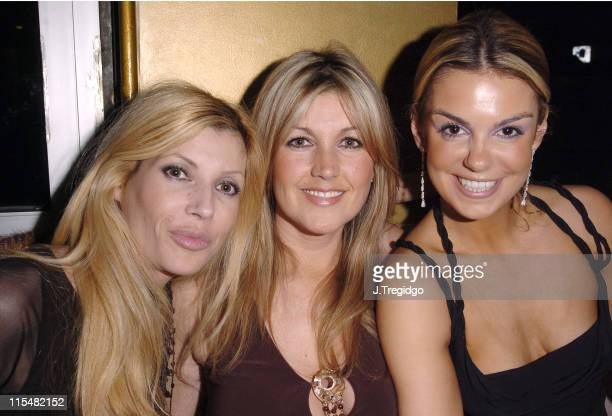 Mandy and Nicole Smith with Friend during Sarah Bosnich Birthday Party Inside Exclusive at The Embassy Club in London Great Britain