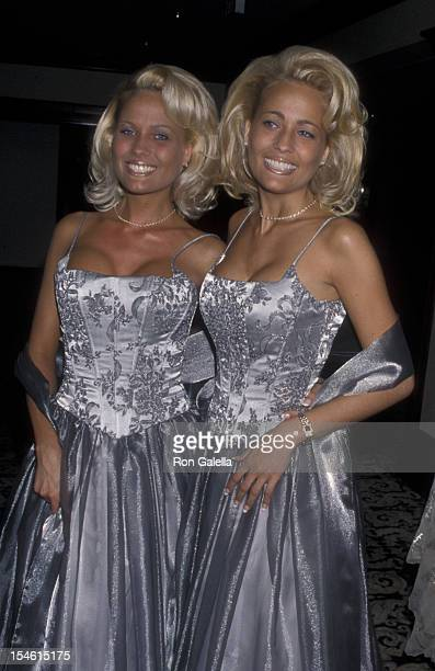 Mandy Bentley and Sandy Bentley attend Friar's Club Roast Honoring Hugh Hefner on October 9 1998 at the Century Plaza Hotel in Century City California