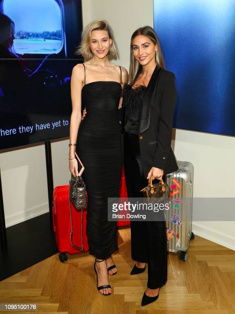 Mandy Bork and Ann Kathrin Goetze attend the Rimowa Store Opening on January 16 2019 in Berlin Germany