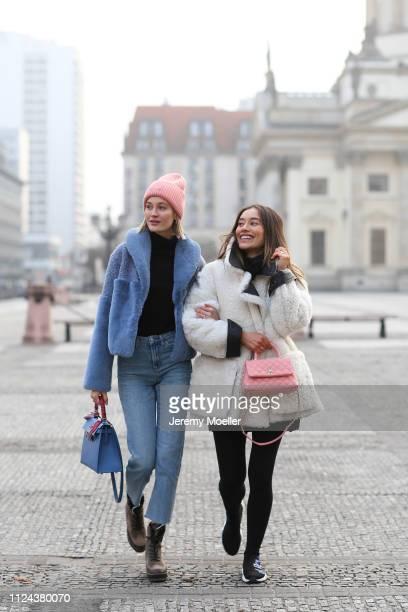 Mandy Bork and Anna Sharypova on January 23, 2019 in Berlin, Germany.