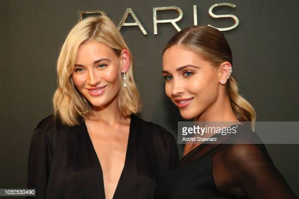 Mandy Bork and AnnKathrin Goetze attend the MESSIKA Party NYC Fashion Week Spring/Summer 2019 Launch Of The Messika By Gigi Hadid New Collection at...