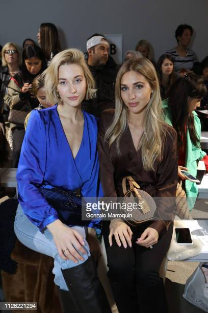 Mandy Bork and AnnKathrin Gotze attend Nicole Miller Fall 2019 Runway Show on February 07 2019 in New York City