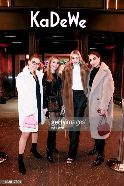 Mandy Bork and guests at the KaDeWe Grand Opening event at KaDeWe on December 10 2019 in Berlin Germany