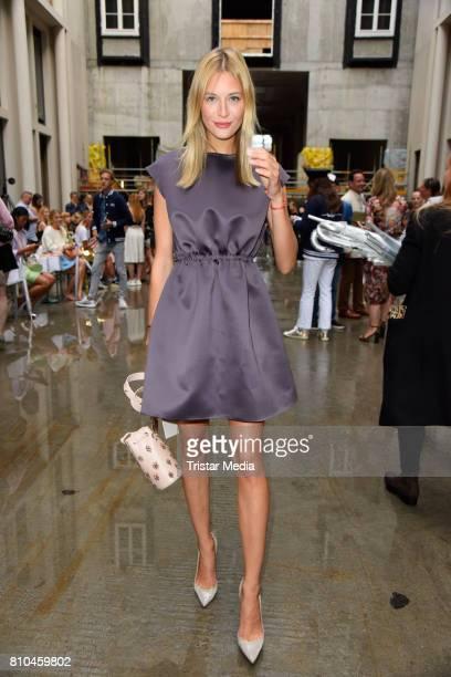 Mandy Bork attends the Marina Hoermanseder show during the Berliner Mode Salon Spring/Summer 2018 at Kronprinzenpalais on July 7 2017 in Berlin...