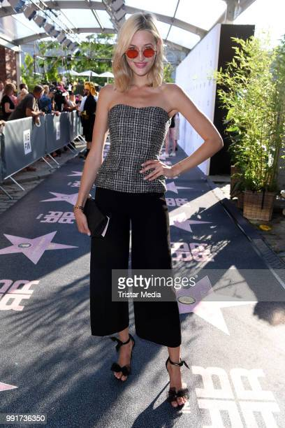 Mandy Bork attends the Riani show during the Berlin Fashion Week Spring/Summer 2019 at ewerk on July 4 2018 in Berlin Germany