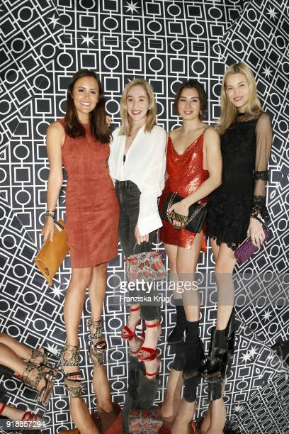 Mandy Bork Laura Noltemeyer Sonia Lyson and Milena Karl during the Bulgari 'RVLE YOUR NIGHT' event during the 68th Berlinale International Film...