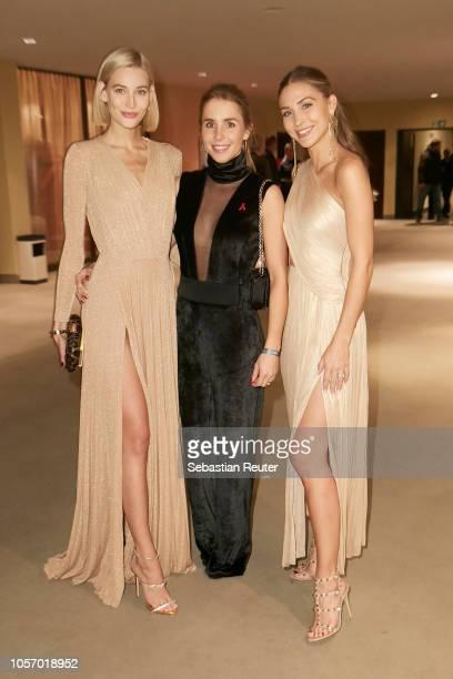 Mandy Bork Nina Neuer and AnnKathrin Broemmel pose during the 25th Opera Gala at Deutsche Oper Berlin on November 3 2018 in Berlin Germany