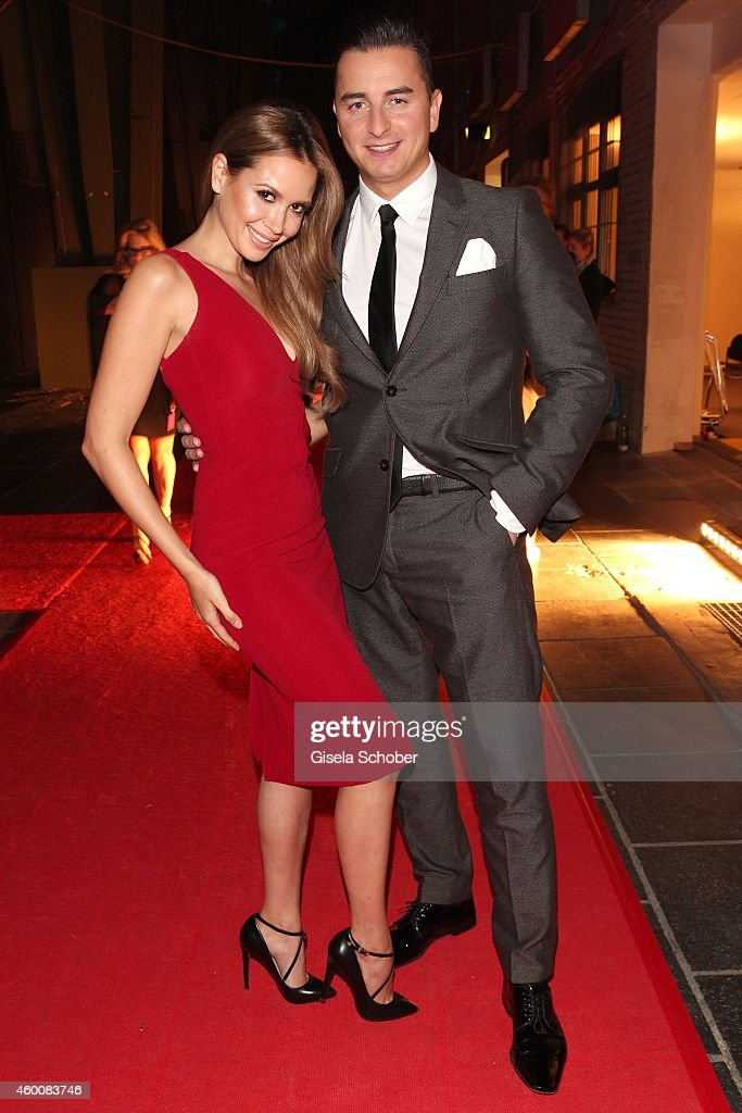 Mandy Capristo and Andreas Gabalier attends the Ein Herz fuer Kinder Gala 2014 at Tempelhof Airport on December 6, 2014 in Berlin, Germany.