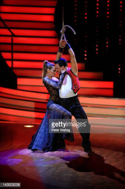 Mandy Capristo and Stefano Terrazzino perform during 'Let's Dance' Third Show at Coloneum on March 28 2012 in Cologne Germany