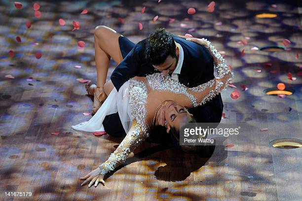 Mandy Capristo and Stefano Terrazzino perform during the 'Let's Dance' TV Show on March 21 2012 in Cologne Germany