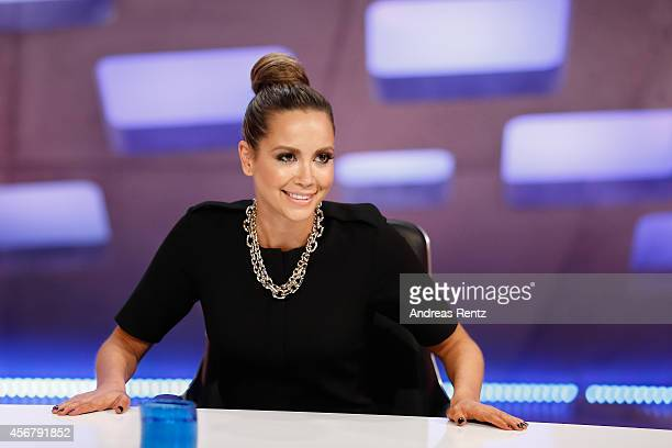 Mandy Capristo attends the 'Deutschland sucht den Superstar' jury photocall on October 7 2014 in Cologne Germany