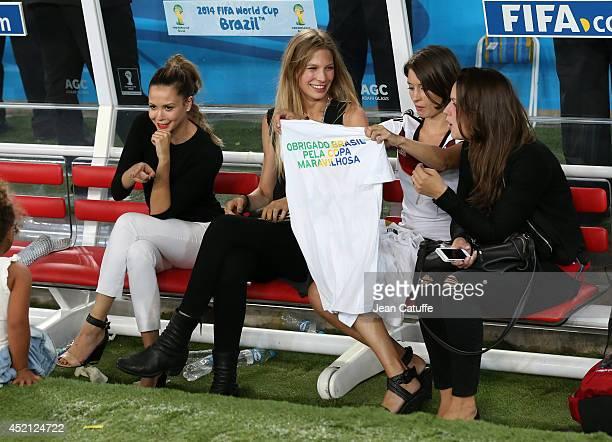 Mandy Capristo, girlfriend of Mesut Ozil, Sarah Brandner, girlfriend of Bastian Schweinsteiger, Kathrin Glich, girlfriend of Manuel Neuer, Jessica...