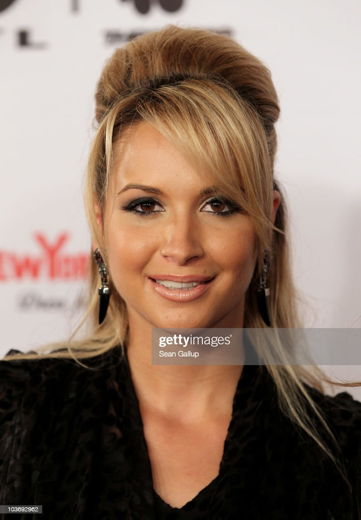 Mandy Capristo of the German girl band Monrose attends The Dome 55 on August 27, 2010 in Hannover, Germany.