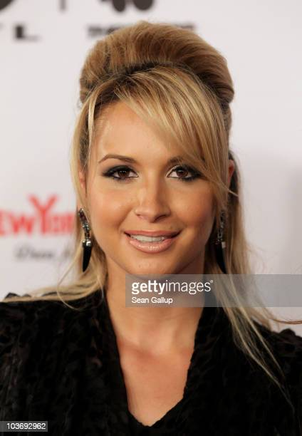 Mandy Capristo of the German girl band Monrose attends The Dome 55 on August 27 2010 in Hannover Germany