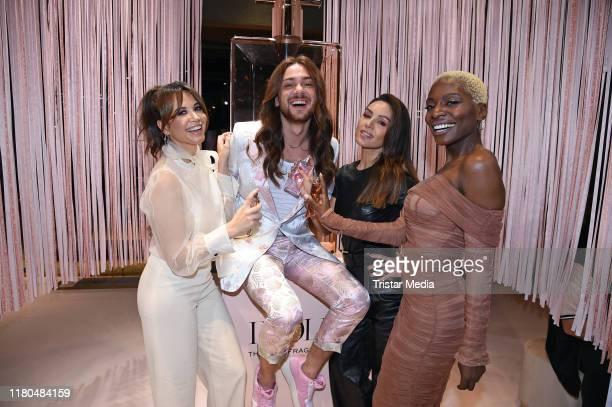 Mandy Capristo Riccardo Simonetti Nazan Eckes and Nikeata Thompson attend the Lancome Idole fragrance Pop Up event at Bikini shopping mall on...