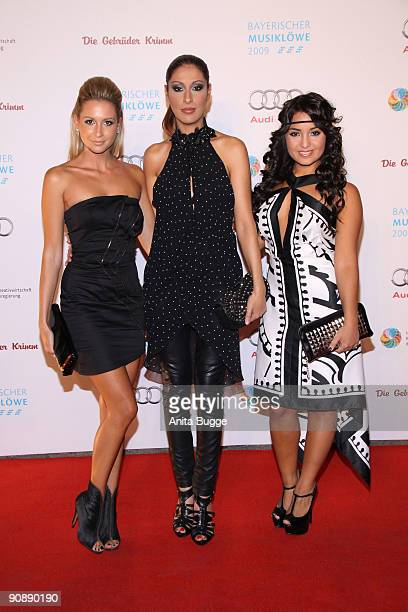 Mandy Capristo Senna Guemmour and Bahar Kizil of Monrose attend the Bavarian Music Lion Award 2009 on September 17 2009 in Berlin Germany