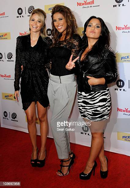 Mandy Capristo Senna Guemmour and Bahar Kizil of the German girl band Monrose attend The Dome 55 on August 27 2010 in Hannover Germany