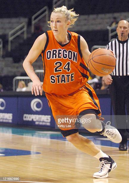 Mandy Close of Oregon State during 7466 loss to Arizona State in Pacific10 Conference Tournament Quarterfinal at HP Pavilion in San Jose Calif on...