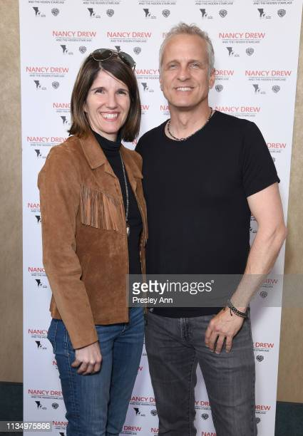 Mandy Fabian and Patrick Fabian attend the red carpet premiere of 'Nancy Drew and the Hidden Staircase' at AMC Century City 15 on March 10 2019 in...