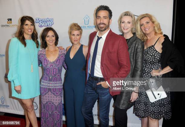 Mandy Fabian Ellie Kanner Kate Mines Paul Witten Jane Lynch and Suzanne Friedline at the Premiere Of Glass House Distributions' 'Dropping The Soap'...