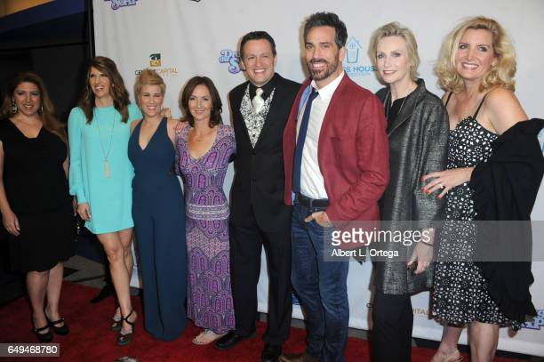 Mandy Fabian Kate Mines Ellie Kanner Tom Malloy Paul Witten Jane Lynch and Suzanne Friedline at the Premiere Of Glass House Distributions' 'Dropping...