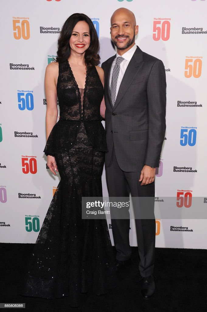 Mandy Gonzalez (L) and Keegan-Michael Key attend 'The Bloomberg 50' Celebration at Gotham Hall on December 4, 2017 in New York City.