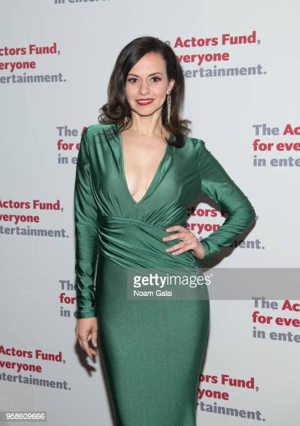 Mandy Gonzalez attends The Actors Fund 2018 Gala at Marriott Marquis Times Square on May 14 2018 in New York City