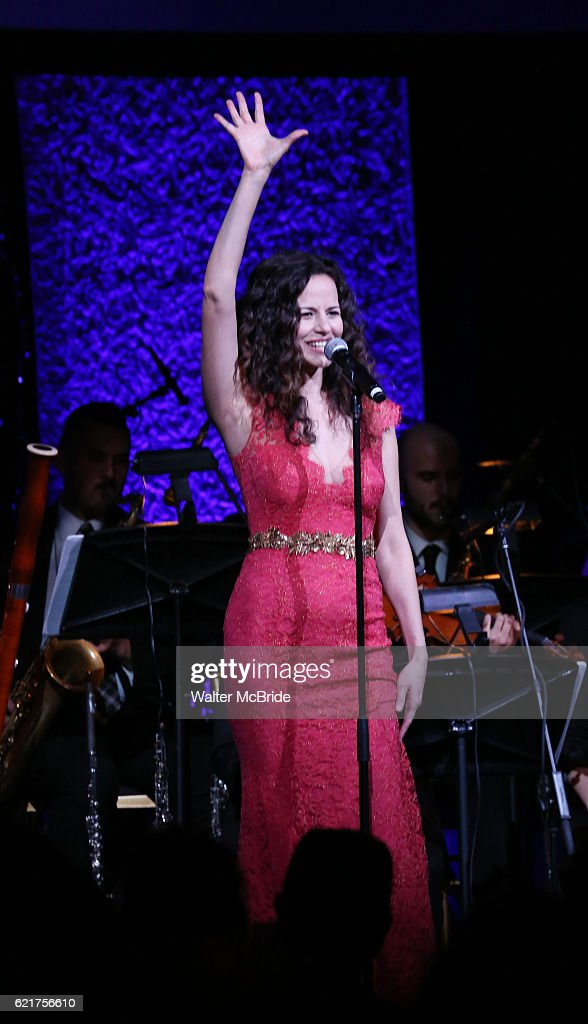 Mandy Gonzalez during the Dramatists Guild Fund Gala 'Great Writers Thank Their Lucky Stars : The Presidential Edition' presentation at Gotham Hall on November 7, 2016 in New York City.