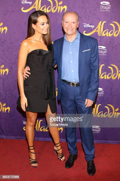 Mandy Grace Capristo and her father Vittorio Capristo attend the Aladdin And Friends Charity Event on April 23 2018 in Hamburg Germany