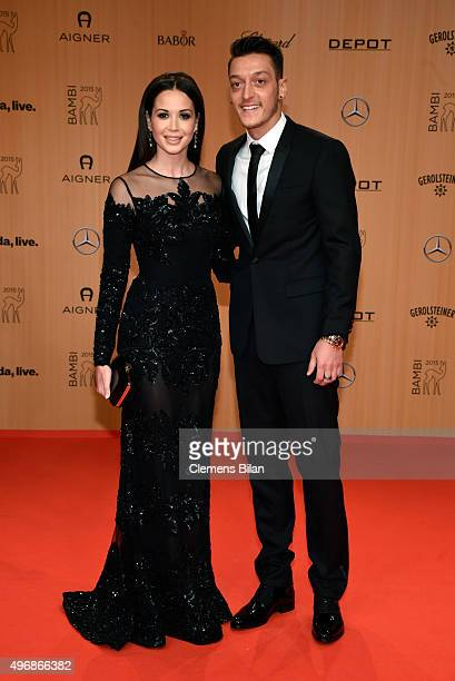 Mandy Grace Capristo and Mesut Oezil attends the Bambi Awards 2015 at Stage Theater on November 12 2015 in Berlin Germany