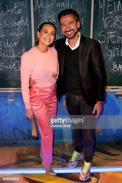 Mandy Grace Capristo and Stephan Jaekel attend the 'Fack ju Goehte Se Mjusicael' Musical Premiere at Werk 7 Theater on January 21 2018 in Munich...