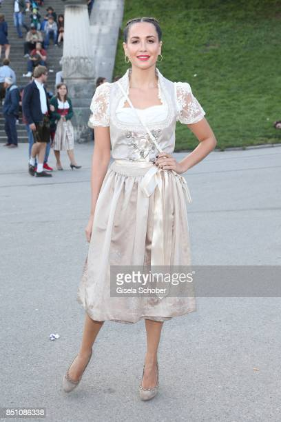 Mandy Grace Capristo at the Madlwiesn event during the Oktoberfest at Theresienwiese on September 21 2017 in Munich Germany