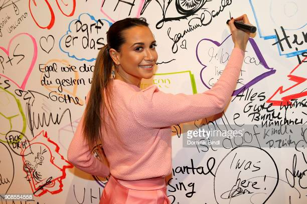 Mandy Grace Capristo attend the 'Fack ju Goehte Se Mjusicael' Musical Premiere at Werk 7 Theater on January 21 2018 in Munich Germany