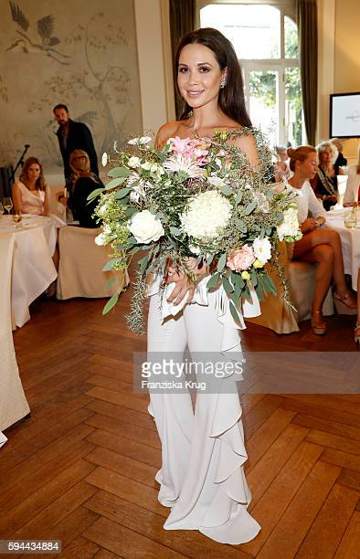 Mandy Grace Capristo attends the Society Relations Ladies Lunch in favor of the Stiftung Deutsche SchlaganfallHilfe on August 23 2016 in Hamburg...