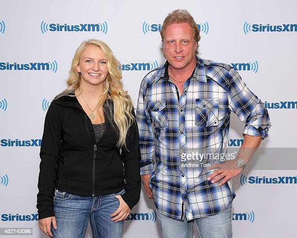 Mandy Hansen and Captain Sig Hansen visit the SiriusXM Studios on July 14 2014 in New York City