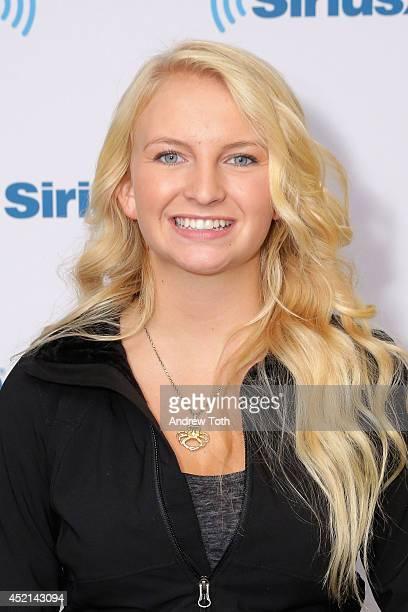Mandy Hansen visits the SiriusXM Studios on July 14 2014 in New York City