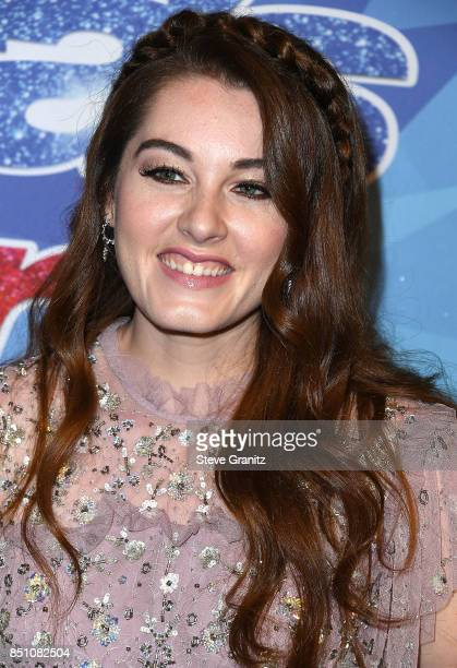 Mandy Harvey arrives at the NBC's 'America's Got Talent' Season 12 Finale Week at Dolby Theatre on September 19 2017 in Hollywood California