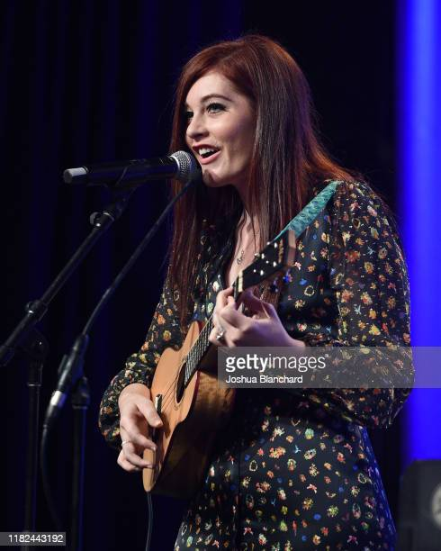Mandy Harvey performs at the 40th Annual Media Access Awards In Partnership With Easterseals at The Beverly Hilton Hotel on November 14 2019 in...