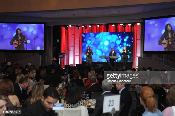 Mandy Harvey performs at the 40th Annual Media Access Awards In Partnership With Easterseals at The Beverly Hilton Hotel on November 14, 2019 in...