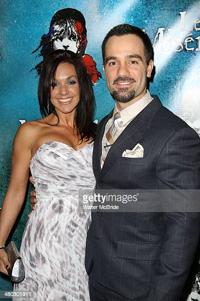 Mandy Karimloo and Ramin Karimloo attend the Broadway Opening Night After Party Reception for Les Miserables at The Imperial Theater on March 23 2014...