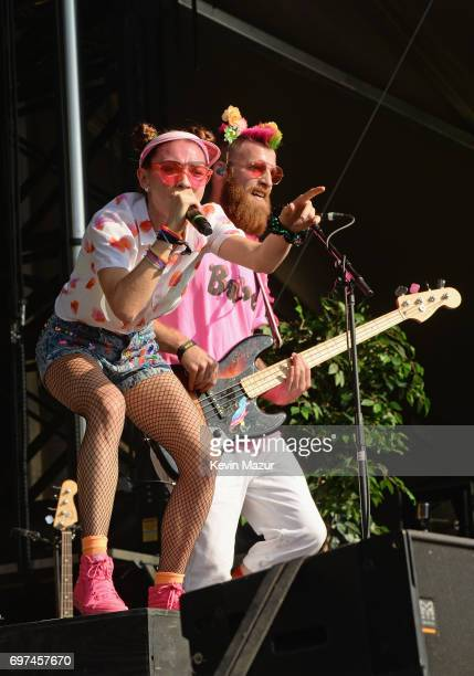 Mandy Lee and William Hehir of MisterWives performs onstage during the 2017 Firefly Music Festival on June 18 2017 in Dover Delaware