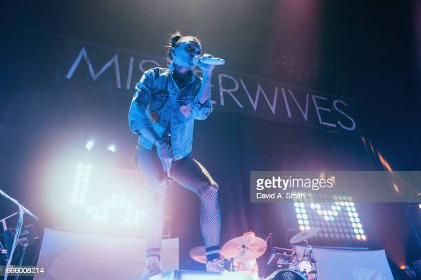 Mandy Lee of MisterWives performs at Legacy Arena at the BJCC on April 7, 2017 in Birmingham, Alabama.
