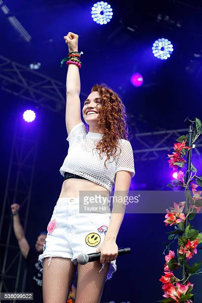 Mandy Lee of Misterwives performs onstage during 2016 Governors Ball Music Festival at Randall's Island on June 4, 2016 in New York City.