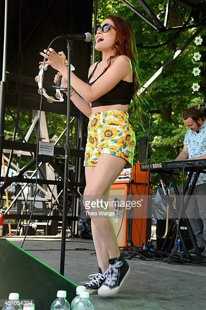 Mandy Lee of MisterWives performs onstage during day 4 of the Firefly Music Festival on June 22, 2014 in Dover, Delaware.