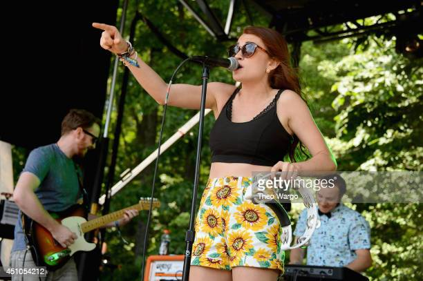 Mandy Lee of MisterWives performs onstage during day 4 of the Firefly Music Festival on June 22 2014 in Dover Delaware