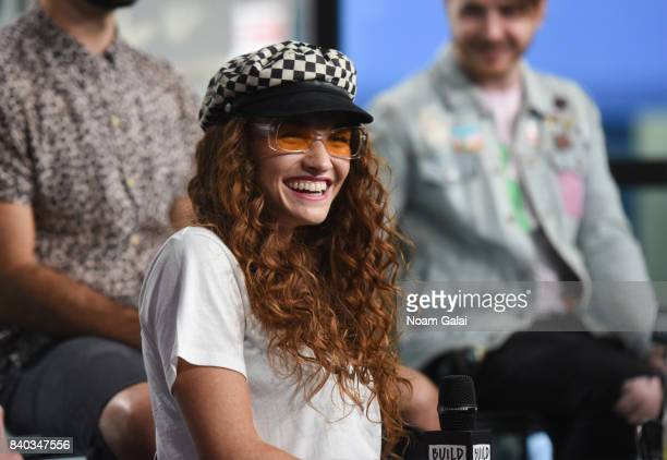 Mandy Lee of MisterWives visits Build Series to discuss their latest album Connect The Dots at Build Studio on August 28 2017 in New York City
