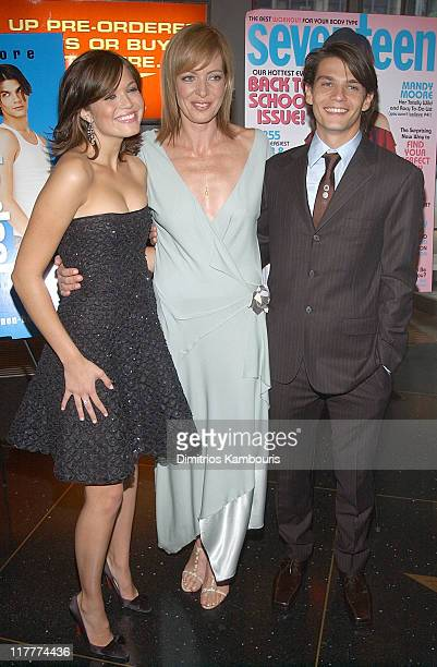 Mandy Moore Allison Janney and Trent Ford during 'How to Deal' New York Premiere Inside Arrivals at Loews Lincoln Square in New York New York United...