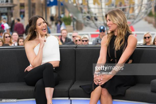 Mandy Moore and Charissa Thompson visit Extra at Universal Studios Hollywood on May 31 2017 in Universal City California